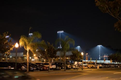 FUHS Stadium at Night
