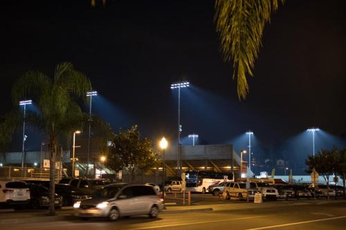 FUHS District Stadium at Night