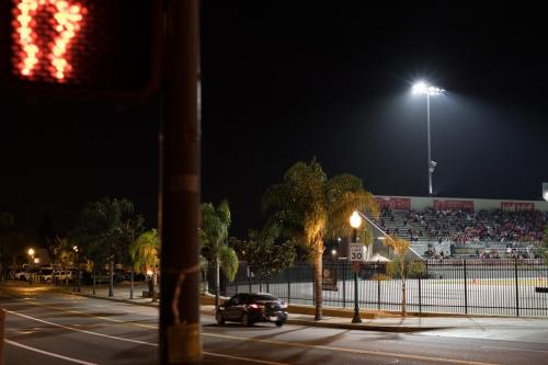 Glare from FUHS stadium lighting