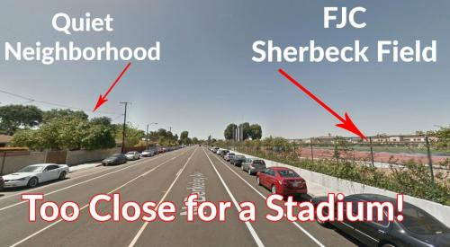 Fullerton College Football Stadium Ruins Neighborhood
